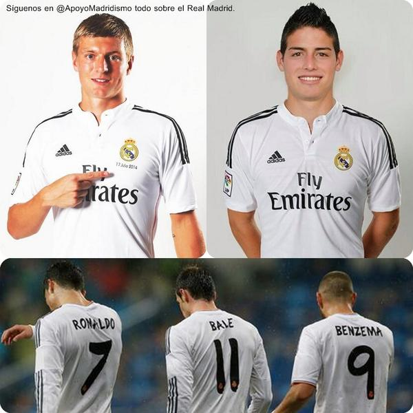 kroos, james y la bbc