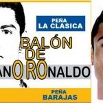ESTAS SON LA CARETA Y TIFO DE LA AFICIÓN PARA PEDIR EL BALÓN DE ORO PARA CR7