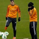 El Real Madrid se entrenó antes de viajar a Barcelona