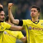 El rival en champions: » El Borussia remonta al Wolfsburgo con goles de Lewandoswki y Reus»