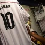 James Rodríguez ha vendido en cuatro días, 1/3 de las camisetas anuales del Real Madrid