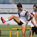 Di María y Khedira se entrenaron con el grupo en la primera sesión post Supercopa de España