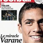 RAPHAEL VARANE,PROTAGONISTA DE LA REVISTA FRANCE FOOTBALL