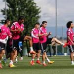 Último entrenamiento antes del Almería