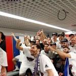 Así se celebró la Novena Copa de Europa en el vestuario madridista