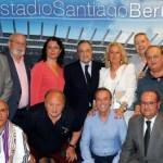 Florentino presidió la reunión de peñas madridistas de Sevilla