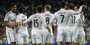 Jugadores del Real Madrid celebrando un gol en la temporada 14-15