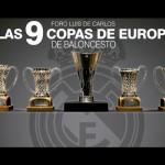 Las 9 Copas de Europa de basket estarán hoy en el Foro Luis de Carlos