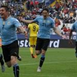 El » Cebolla» Rodríguez resuelve para la vigente campeona, Uruguay, su debut ante la rocosa Jamaica