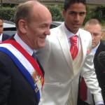 Varane se casó hoy en Francia