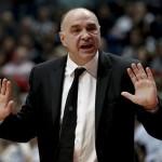 El entrenador del Real Madrid, Pablo Laso,enfadado y crítico tras la derrota contra el Valencia Basket