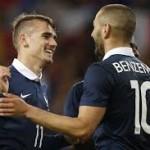 Griezmann alaba a Benzema: » Tiene mucha calidad para ser el 9 del Madrid»