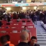 Los jugadores españoles celebraron con el público el billete para la final del Eurobasket