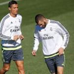 Cristiano, Kroos y Benzema, se ejercitaron con el grupo en la tercera sesión en pleno Virus FIFA