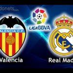 Descanso: Valencia 2 – 1 Real Madrid.