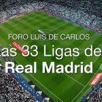 Mañana en el Foro Luis de Carlos, las 33 ligas del Real Madrid