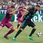 El Manchester City condena, a balón parado, al Real Madrid en el segundo partido de la Champions Cup