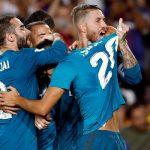 El azul turquesa fue talismán. Baño de goles y de fútbol del Real Madrid (1-3) que sentencia la Supercopa de España.
