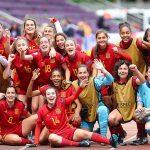 Las chicas de la rojita sub 17 endosan una manita a Polonia (5-0), se meten en semifinales del Europeo y son grandes favoritas al título continental