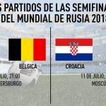 Francia vs Bélgica y Croacia vs Inglaterra, las semis del mundial