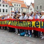 Baño de madridismo en Tallín: Las peñas merengues ponen el colorido a pocas horas de la final de la Supercopa de Europa