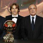 Florentino y las leyendas madridistas arroparon a Luka Modric