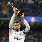 El capitán Ramos ofreció el mundialito de clubes al Bernabéu