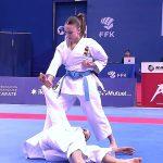 El equipo femenino de katas se cuelgan la medalla de Bronce en Salzburgo