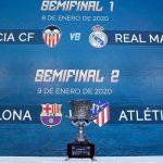 Valencia vs Real Madrid y Atléti vs Barcelona, semifinales de la Supercopa de España 2020