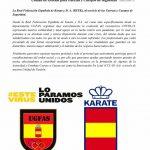 La RFEK ( Real Federación Española de Karate) y UGFAS unidos en la lucha contra COVID-19