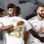 El vestuario del Real Madrid se siente campeón de liga.