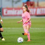 Maite Oroz, primera goleadora del Real Madrid Femenino en Valdebebas. Hizo el (1-0) en el minuto 44.