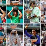 Los 13 Roland Garros de Nadal desde 2005.
