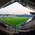 Así es el estadio de Bergamo donde se estrenará esta noche el Real Madrid.