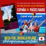 Tokio 2020: España se enfrenta a Holanda y optará al tercer triunfo consecutivo
